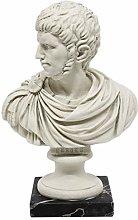 Busto Statua Nerone da Collezione Fatta a Mano -