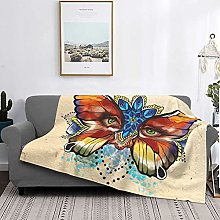 Butterflies Face Basics Coperta in peluche fuzzy