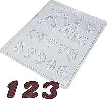 BWB 380 Stampo Numeri per Cioccolato Caldo Forma
