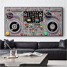 Bxygml Astratto colorato Strumento Musicale Arte