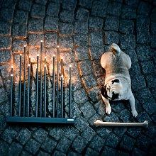 By Rydéns Elfugan candelabro, nero