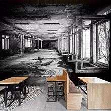 BYSQX 3D Adesivi Murali Nero Retrò Rovine Foto Di
