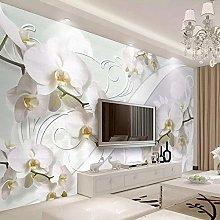 BYSQX 3D Adesivi Murali Rosa Piante Fiori Foto Di