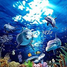 BYSQX Carta Da Parati Fotografica 3D Blu Oceano