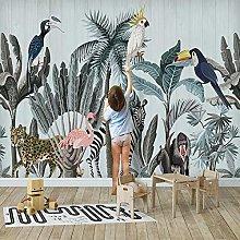 BYSQX Carta Da Parati Fotografica 3D Flamingo