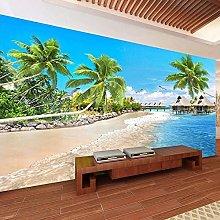 BYSQX Carta Da Parati Fotografica 3D Spiaggia