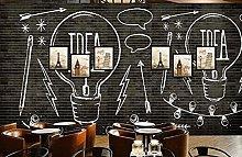 BZZB adesivo murale 3dLampadina da parete in