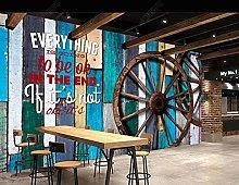 BZZB adesivo murale 3dRuota in legno di colore