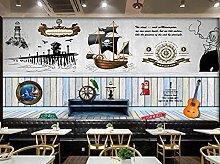 BZZB adesivo murale 3dTavola di legno nautica bar
