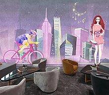 BZZB adesivo murale 3dVista notturna della città