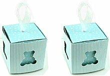 C.X.Y. 50 Scatola Cubo Portaconfetti Orsetto Cuore