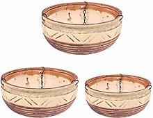 Cabilock 1 Set / 3 Pz Fioriera Sospesa in Ceramica