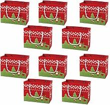 Cabilock 10 Pezzi Sacchetti di Caramelle di Natale