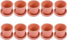 Cabilock 10 Set Mini Vasi di Terracotta Fioriera