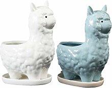 Cabilock 2 Pz Fioriera in Ceramica Lama Vaso