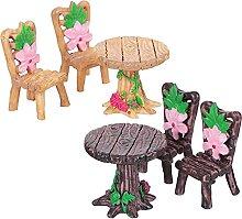 Cabilock 2 Set in Miniatura Tavolo E Sedie Set