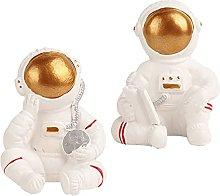 Cabilock 2Pcs Astronauta Statua Figurine Spina di