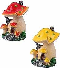 Cabilock 2Pcs della Resina di Funghi Fairy Garden