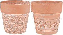 Cabilock 2Pcs di Terracotta Vasi di Fiori