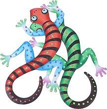 Cabilock 2Pcs Gecko del Metallo di Arte della