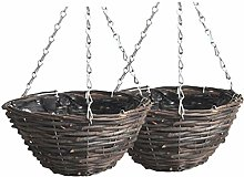 Cabilock 2Pcs Hanging Impianto Fioriera Cestino