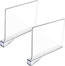 Cabilock 2Pcs Mensola Divisori Trasparente