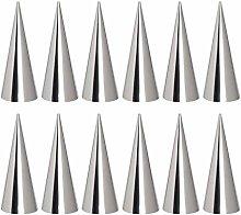 Cabilock 30 pezzi stampo per corno in acciaio inox