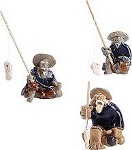 Cabilock 3Pcs Pescatore Figurine Decorazioni di
