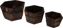 Cabilock 3Pcs Scatola di Legno Whisky Barile