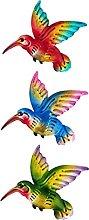 Cabilock 3Pcs Uccello di Metallo Decorazioni