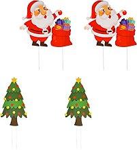 Cabilock 4 pezzi di decorazioni natalizie da