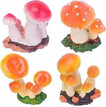 Cabilock 4 Pezzi Miniature Fungo Statua Fata
