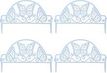 Cabilock 4Pcs Decorativo Giardino Recinzione del