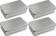 Cabilock 4Pcs Metallo Cany Box Glassato della