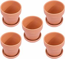 Cabilock 5 Set Mini Vasi di Terracotta Fioriera