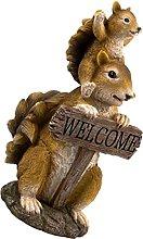 Cabilock Benvenuto Yard Segno Creativo Squirrel