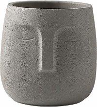 Cabilock Cemento Faccia Fioriera Testa Viso Vaso