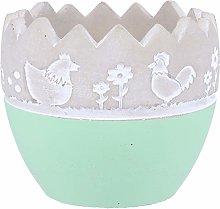 Cabilock Cemento Vaso di Fiori Forma di Uovo di