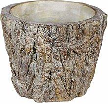 Cabilock Ceppo di Albero Pianta in Vaso Cemento