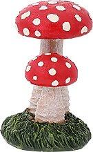 Cabilock Fungo Giardino Statua di Due a Capo