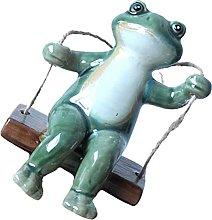 Cabilock Giardino Rana Statua Giardino Swinging