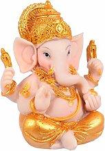 Cabilock Gold Hindu Elefante Dio Statuetta di