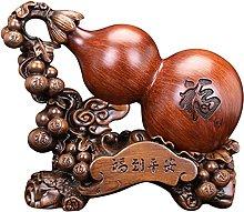 Cabilock Resina Zucca Wu Lou Statua Feng Shui