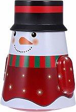 Cabilock Scatola di latta natalizia con pupazzo di
