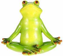 Cabilock Yoga Resina Frogs Figurine Decorazione di