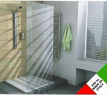 Cabina box doccia con anta fissa in vetro temperato