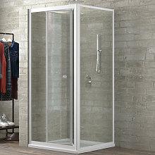 cabina doccia book 2 lati trasparente 100x80 +