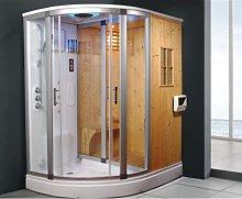 Cabina doccia idromassaggio e sauna finlandese