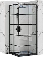 Cabina doccia Rea Concept Black 80x80