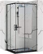 Cabina doccia Rea Punto Black 80x100